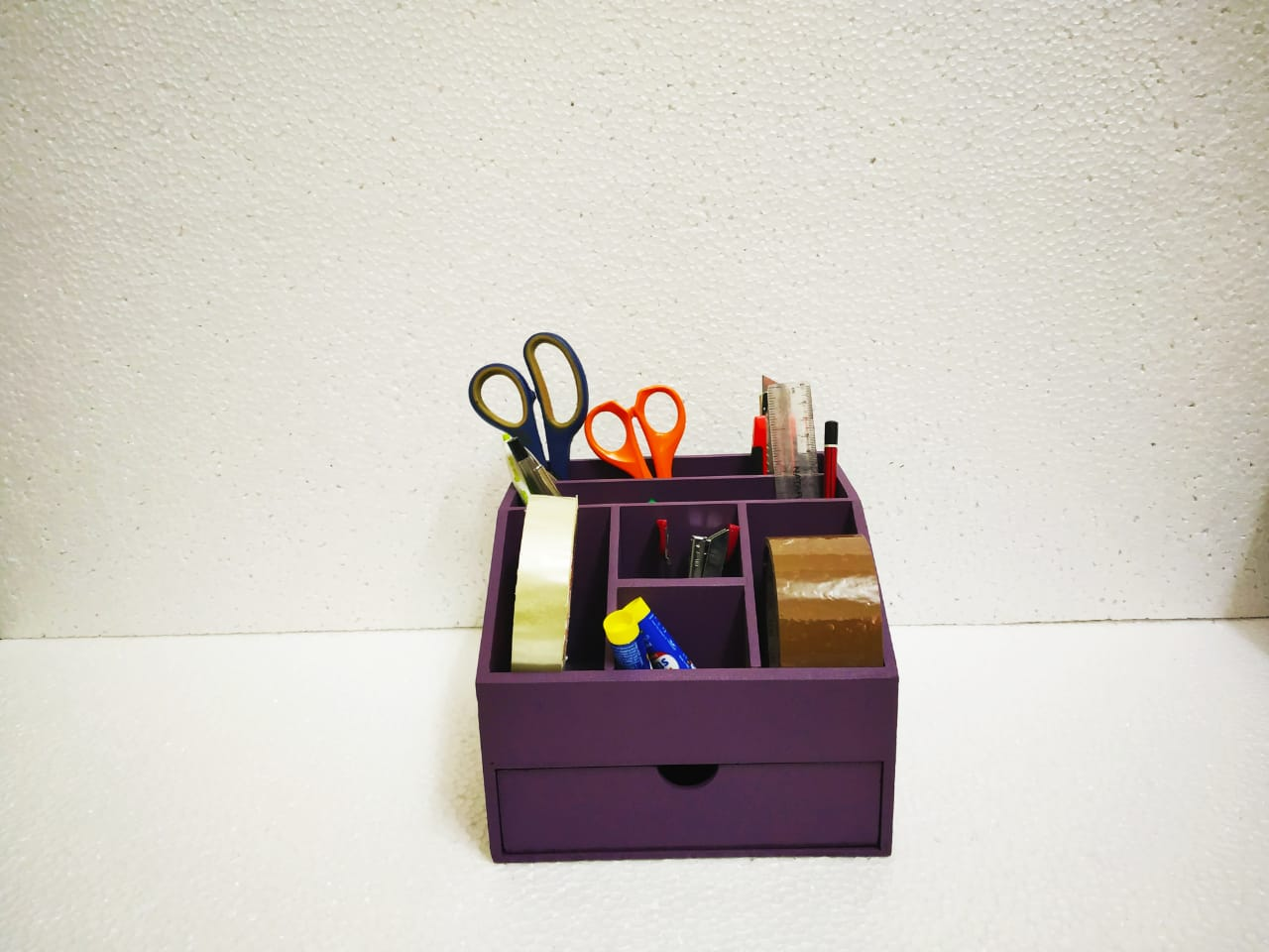 Desk organiser with 7 compartments