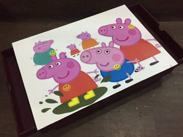Cushioned lap table with drawers(Peppa Pig)
