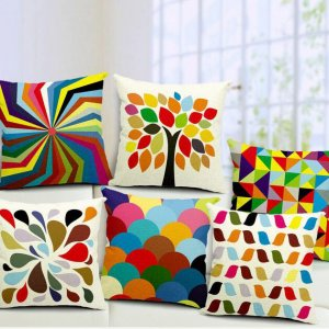 Happy tree digital based cushion covers ( Set of 5)