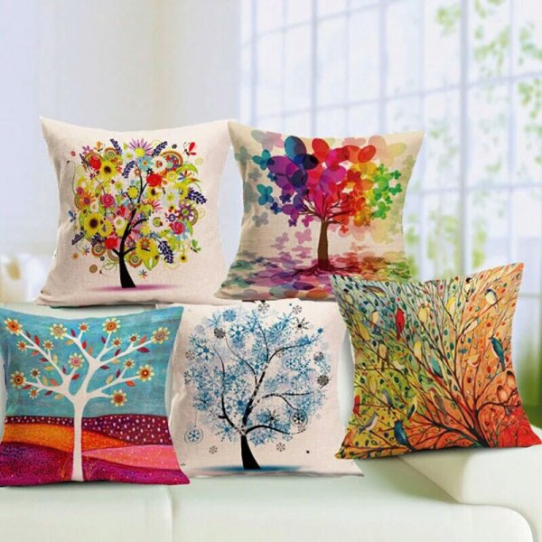 Bright digital based cushion covers ( Set of 5)