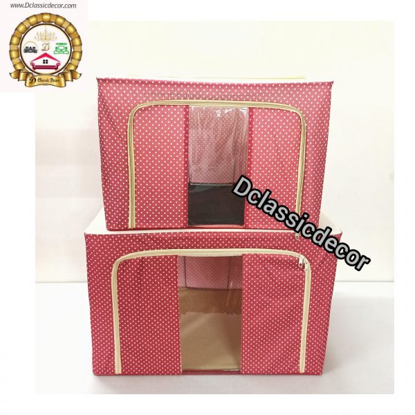 Foldable Storage Box / Clothes Organiser / Saree Organiser ( Set of 2)