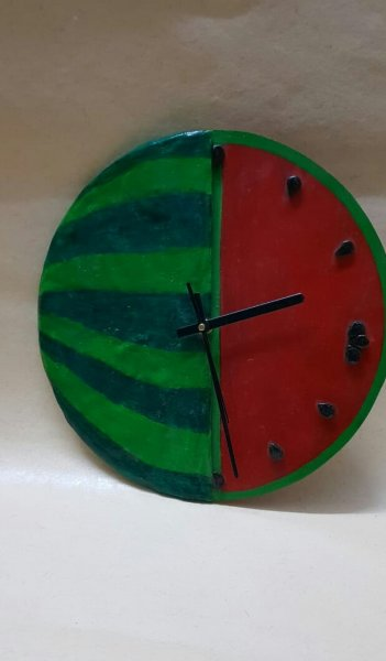 Handmade watermelon wallclock