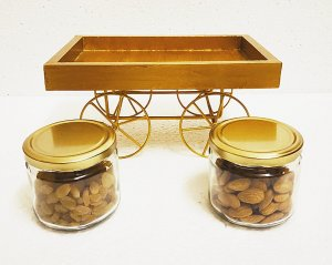 Golden Thela Cart with 2 jars