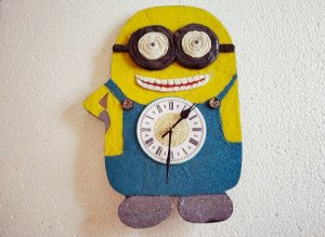 Minion handmade wall clock