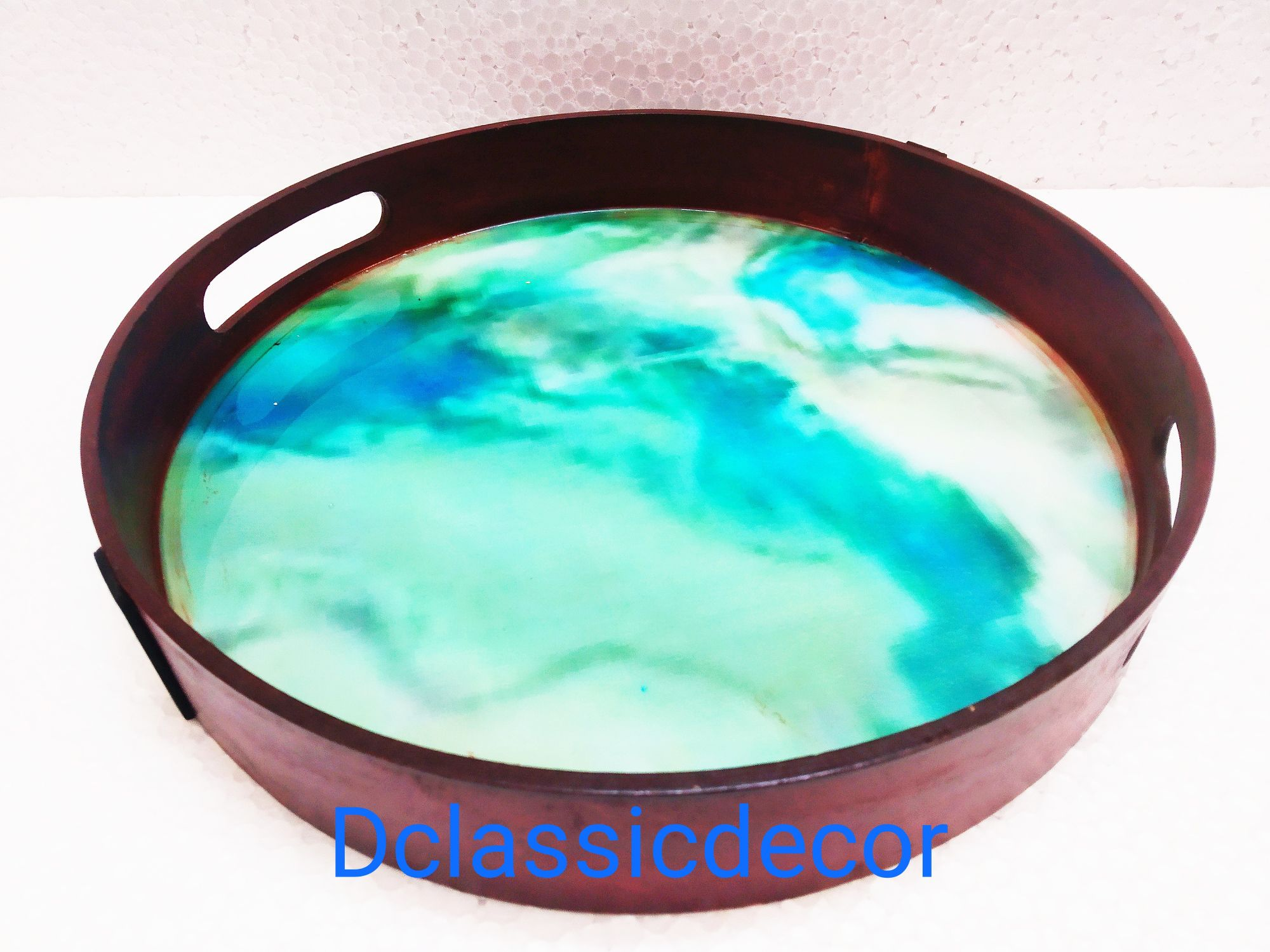 Resin  Serving tray (Aqua Blue)