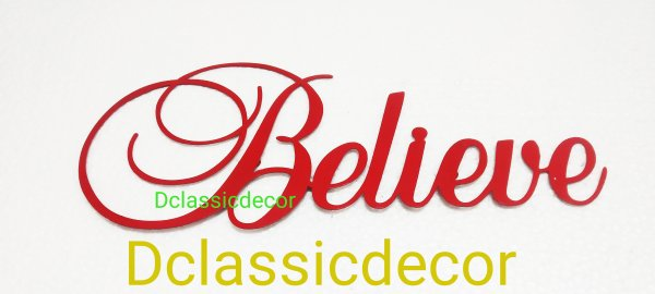 Believe metal wall hanger