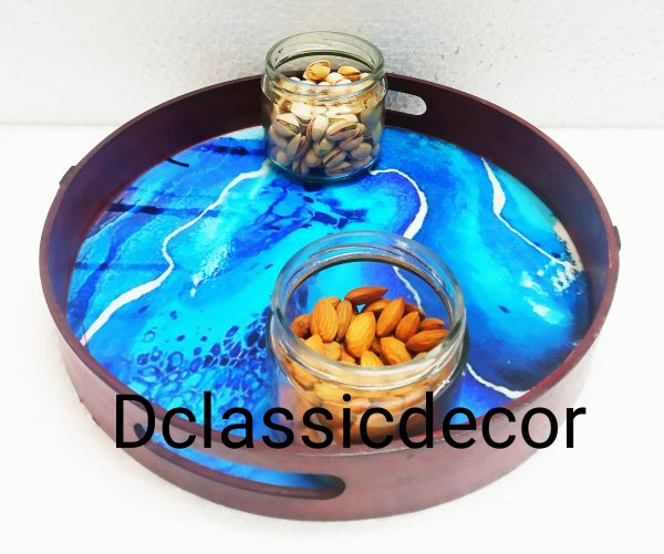 Resin serving tray ( Royal Blue)