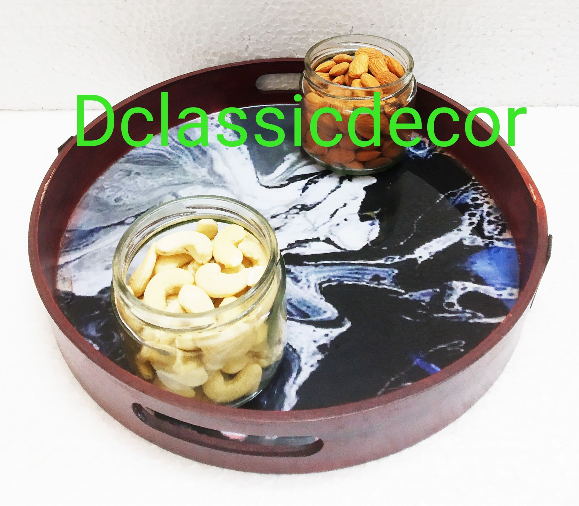 Resin serving tray ( Black )