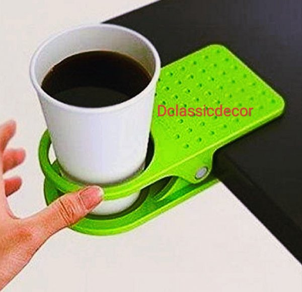 Clip Cup Holder / Desk Cup Holder / Coffee Holder ( Set of 2)