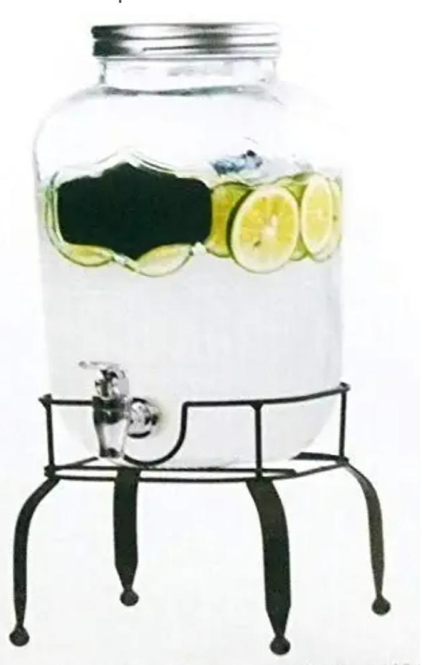 Glass Water Dispenser With Stand
