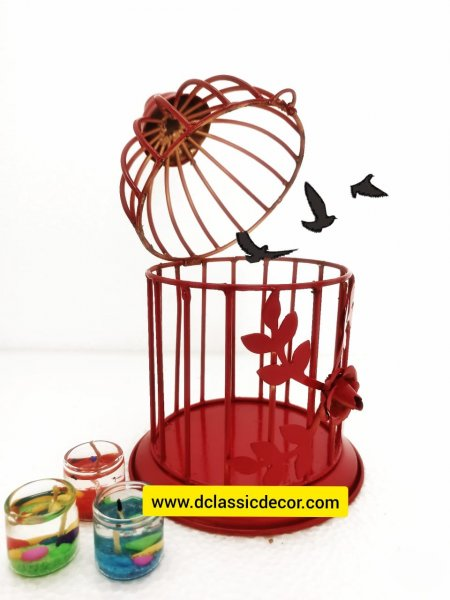 Decorative bird cage/t light holder