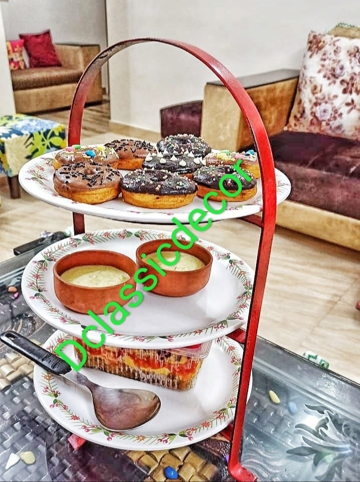 Three Tier Snacks/ Dessert/ Fruits Serving Stand