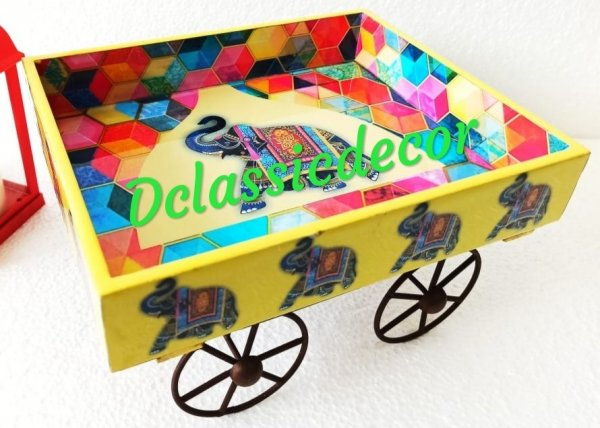 Yellow Thela Cart ( Happy Elephant Print)